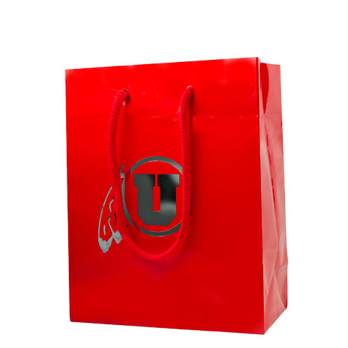 Image For Utah Utes Chrome Athletic Logo Medium Gift Bag