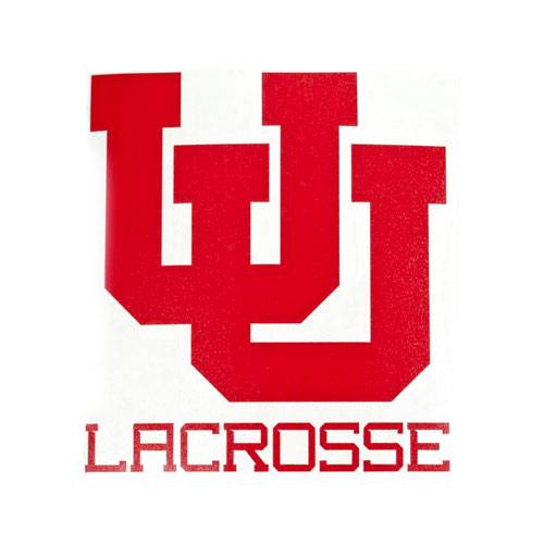 Image For Utah Utes Interlocking U Lacrosse 4 In Vinyl Decal