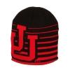 Image for Utah Utes Interlocking U Black and Red Striped Beanie