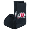 Image for Utah Utes Under Armour Black Training Crew Socks