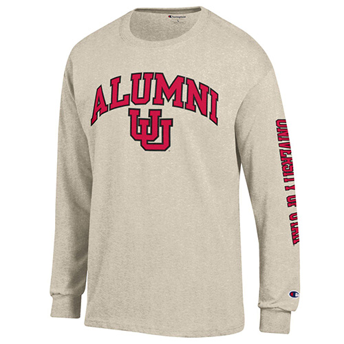eb454bd33e2e Image For University of Utah Champion Alumni Long Sleeve Tee