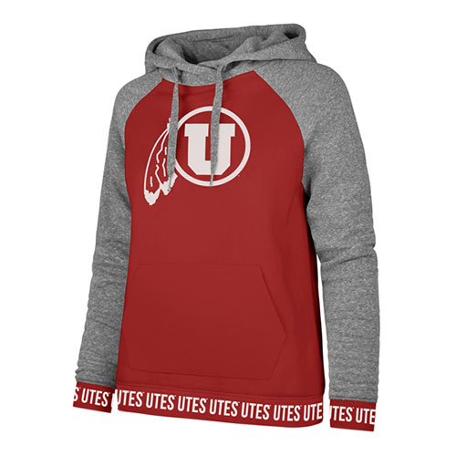 Image For Utes Athletic Logo Women's Stretch Band Hoodie