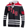 Image for Utah Utes Interlocking U Hooded Hockey Jersey