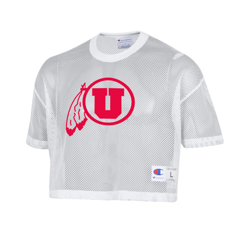 Image For Utah Utes Athletic Logo Champion Mesh Jersey Top
