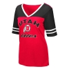 Image for Utah Utes Women's Athletic Logo Jersey Style V-Neck T-Shirt