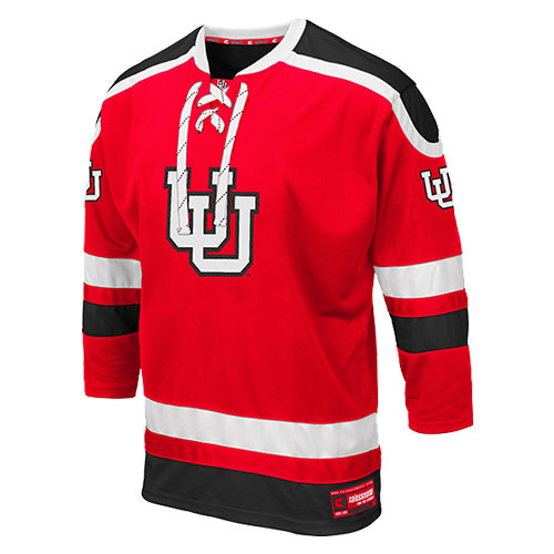 Image For Utah Utes Colosseum Interlocking U Hockey Jersey