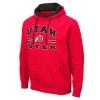Image for Utah Utes Bold Athletic Logo Basic Red Hoodie