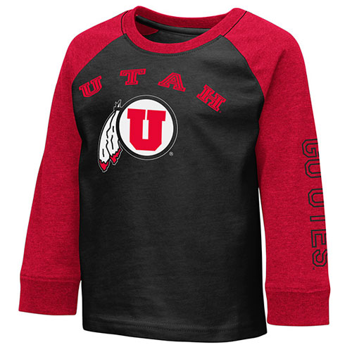 Image For Utah Utes Two Toned Colosseum Long Sleeve