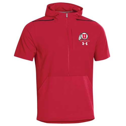 Cover Image For Utah Utes Under Armour 2019 Sideline Shortsleeve Cage Jacket