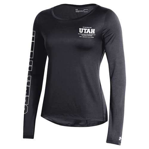 Cover Image For Utah Utes Under Armour 2019 Sideline Women's Longsleeve Tee