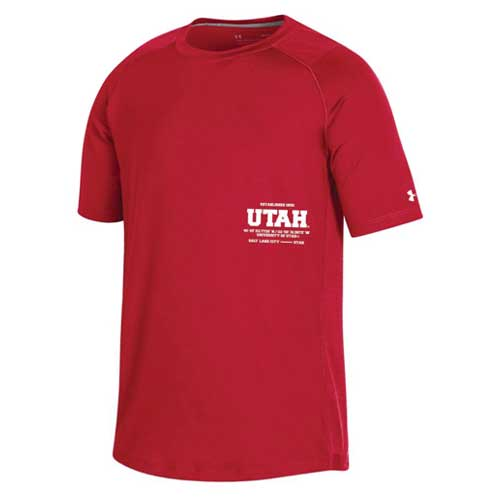 Cover Image For Utah Utes Under Armour 2019 Sideline Youth T-Shirt