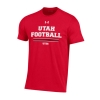 Image for Utah Utes Under Armour Sideline Football T-Shirt