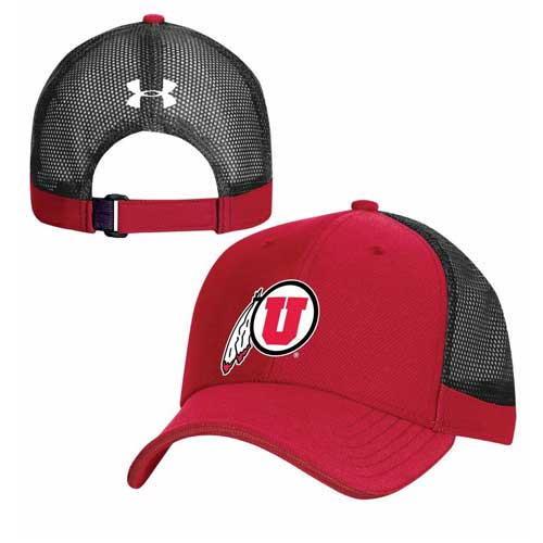 Image For Utah Utes Under Armour Sideline Adjustable Red Cap