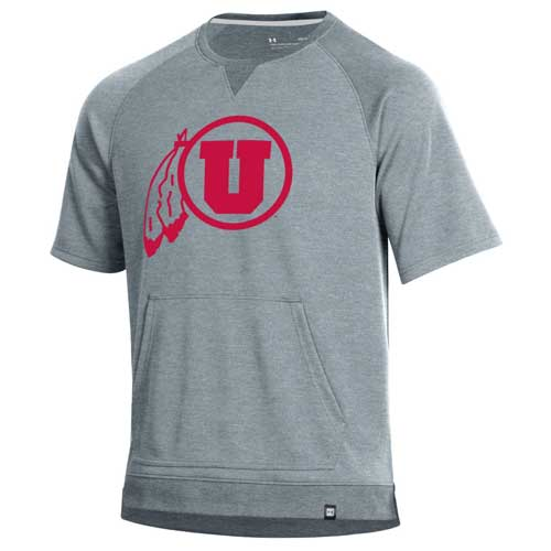 Image For Utah Utes Under Armour Short Sleeve Sweatshirt