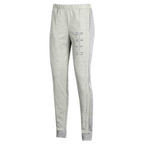 Image For Utah Utes Under Armour Women's White Sweatpants
