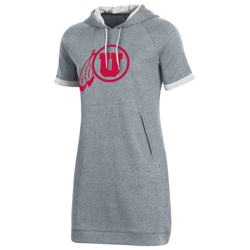Image For Utah Utes Under Armour Athletic Logo Hoodie Dress