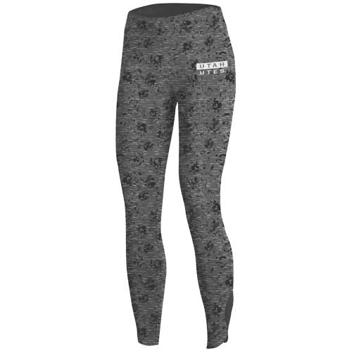 Image For Utah Utes Cropped Under Armour Patterned Leggings