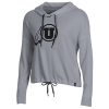 Image for Utah Utes Dark Athletic Logo Waffle Knit Hoodie