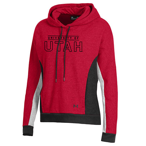 Image For University of Utah Utes Women's Tricolor Under Armour Hoodie