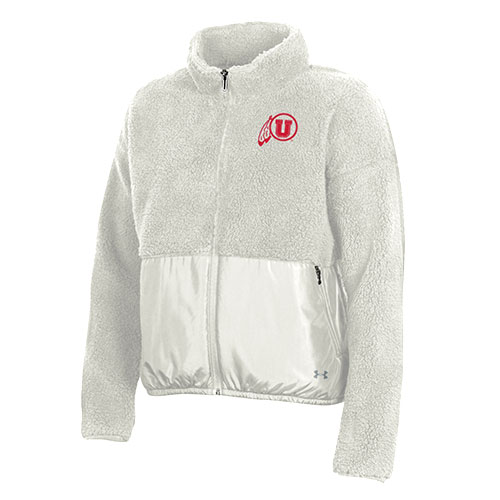 Image For Utah Utes Women's Under Armour  Full-Zip Sherpa Jacket
