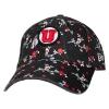 Image for Utah Utes Athletic Logo Floral Women's Adjustable Hat