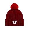 Image for Utah Utes Heather Red Block U Pom Pom Beanie
