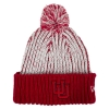 Image for Utah Utes Womens Interlocking U Red and White Pom Beanie