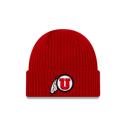 Image For New Era Athletic Logo Red Youth Beanie