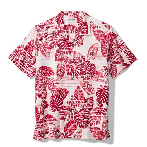 Image For Utah Utes Tommy Bahama Super Fan Tropics Camp Shirt