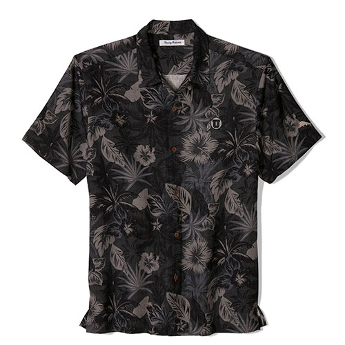 Cover Image For Utah Utes Tommy Bahama Fuego Floral Camp Shirt