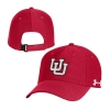 Image for Utah Utes Under Armour Interlocking U Red Adjustable Hat