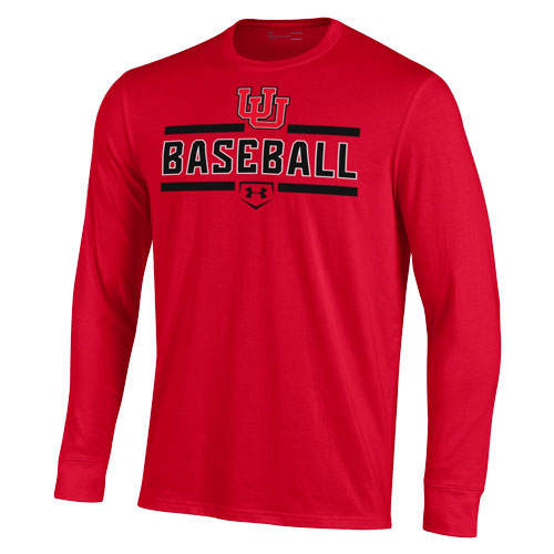 Cover Image For Utah Utes Baseball Under Armour Interlocking U Tee