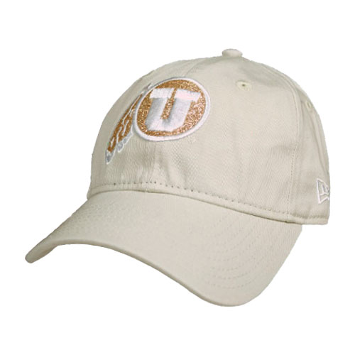 Cover Image For Utah Utes Glitter Athletic Logo Adjustable Youth Hat