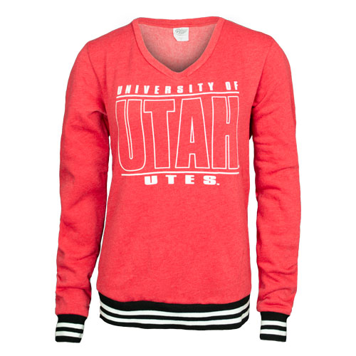 Image For Utah Utes University of Utah V-Neck Sweatshirt