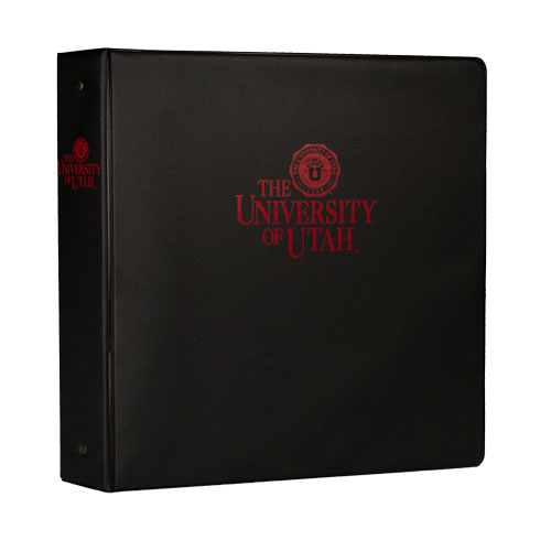 "Image For Utah Utes U of U Medallion 1.5"" Black Binder"