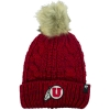 Image for Utah Athletic Logo Faux Fur Pom Women's Beanie
