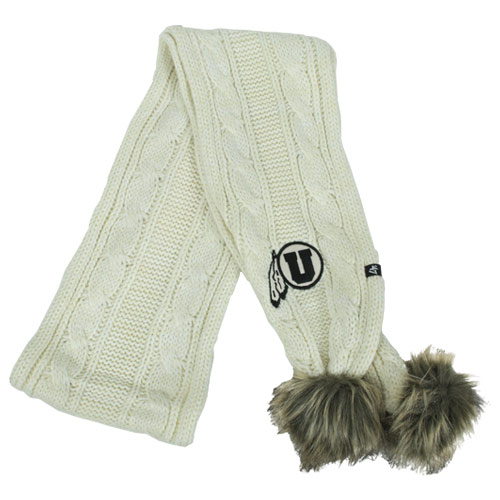 Image For 47 Brand White Knit Women's Scarf