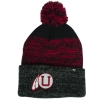 Image for Utah Utes Red and Black Big Stripes 47 Beanie