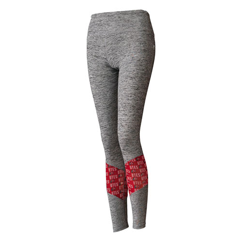 Image For Utah Utes Athletic Logo Women's Heather Gray Leggings