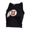 Image for Utah Utes Athletic Logo ZooZatz Black Crop Top