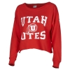 Image for Utah Utes Cropped Athletic Logo Pullover