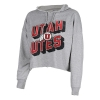Image for Utah Utes Women's Athletic Logo Cropped Hoodie