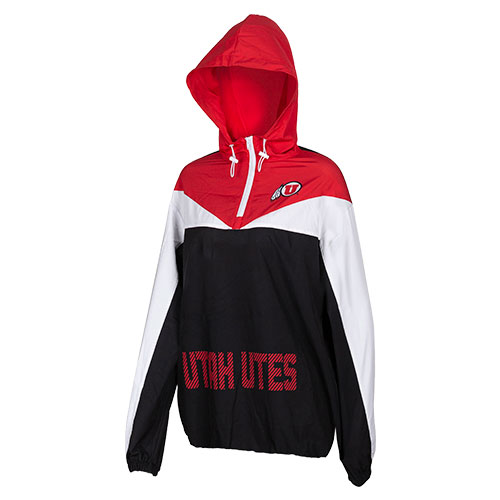 Image For Utah Utes Athletic Logo Pullover Women's Windbreaker