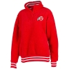 Image for Utah Utes Athletic Logo Red Sherpa Quarter Zip Jacket