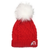 Image for Athletic Logo Cable Knit Pom Pom Beanie