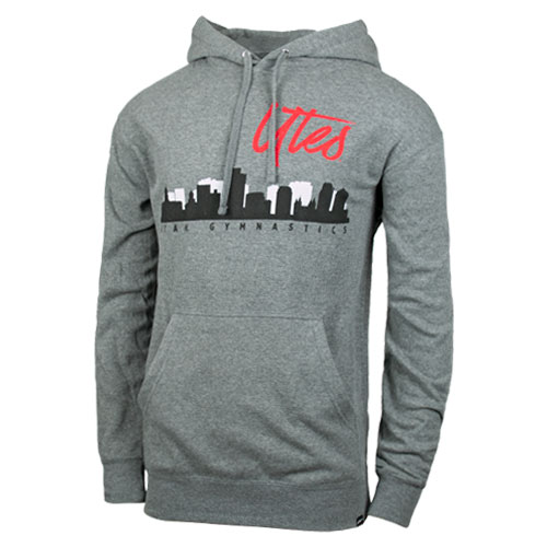 Cover Image For Utah Utes Gymnastics City Skyline Hoodie