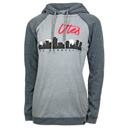 08fae209 Image For Utah Utes Gymnastics City Skyline Womens Hoodie