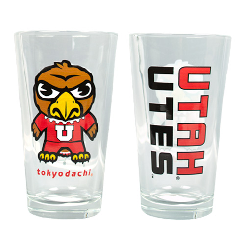 Cover Image For Utah Utes Swoop Tokyodachi Pint Glass
