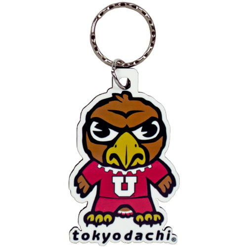 "Image For Utah Utes 3"" Tokyodachi Swoop Keychain"