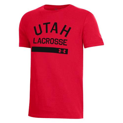 Utah Utes Lacrosse Under Armour Youth Tee Image 57963b691